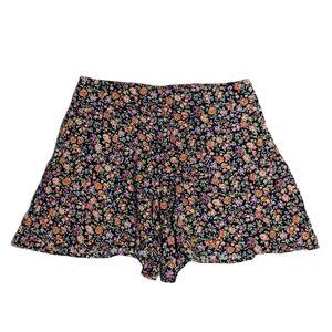 Kimchi Blue Size 6 High Waist Floral Print Shorts